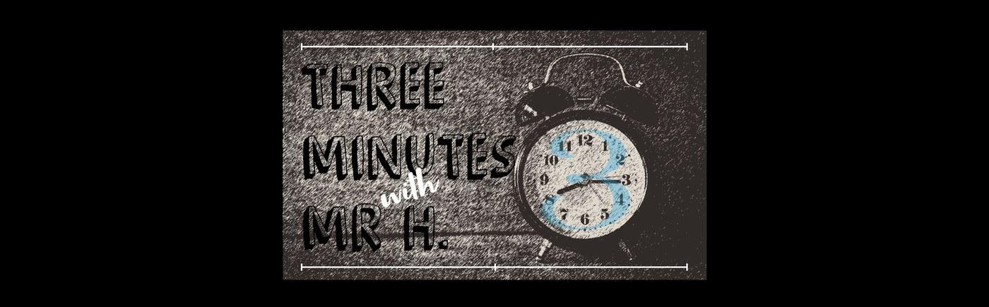 3 minutes logo banner